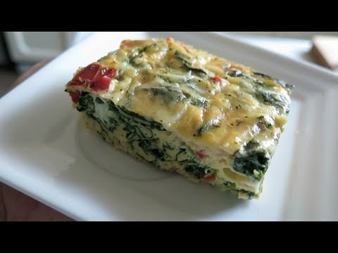 Video Easy and Healthy Spinach Egg Casserole