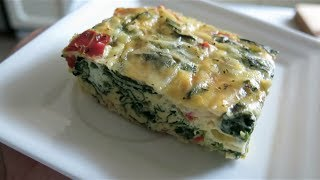Easy And Healthy Spinach Egg Casserole