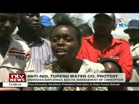 Nol Turesh water company employees demonstrate over their dismissal
