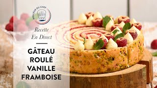 Recette en direct : le Gâteau Roulé Vanille Framboise