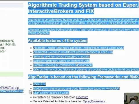 Algo trader open source : Percentage chart