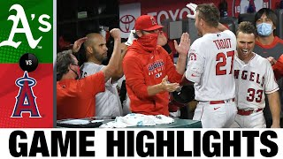 Mike Trout's two homers lifts Angels to win | Athletics-Angels Game Highlights 8/10/20
