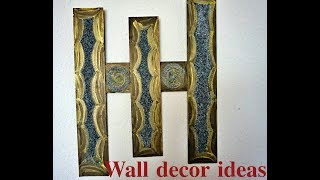 Homemade Wall Decoration Ideas| Large Wall Decor Ideas For Living Room|Waste Items Craft Ideas