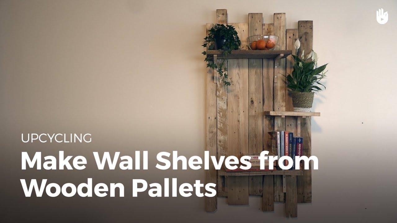 foto de Build DIY Wooden Wall Shelves - Recycling Pallets | Sikana