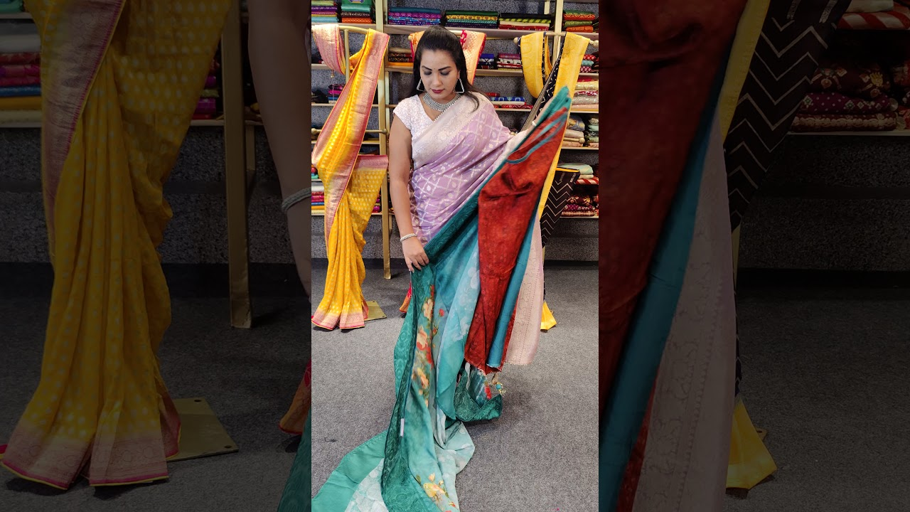 """<p style=""""color: red"""">Video : </p>BEAUTIFUL GOEEGET MUNGAA BANARAS SAREES FROM MUGDHA FOR ORDERS 9949047889 2021-09-20"""
