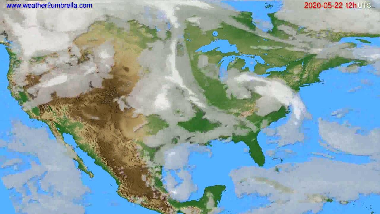 Cloud forecast USA & Canada // modelrun: 00h UTC 2020-05-22