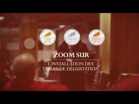 Voir la vidéo : L'installation des tables de dégustation