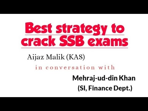 Best Strategy to Crack JKSSB Exams | Mehraj-ud-Din Khan Sub ...