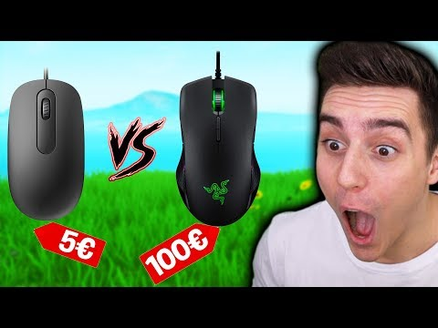 5€ MAUS vs 100€ MAUS in FORTNITE!😱🔥