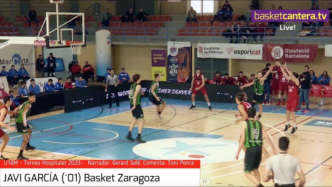 JAVI GARCÍA (´01) 1,88 m. Basket Zaragoza.- Torneo de Hospitalet 2020 (BasketCantera.TV)
