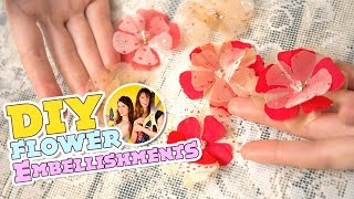 DIY Heat-Cut Flower Embellishments And Appliques | How To Make No-Fray Accents