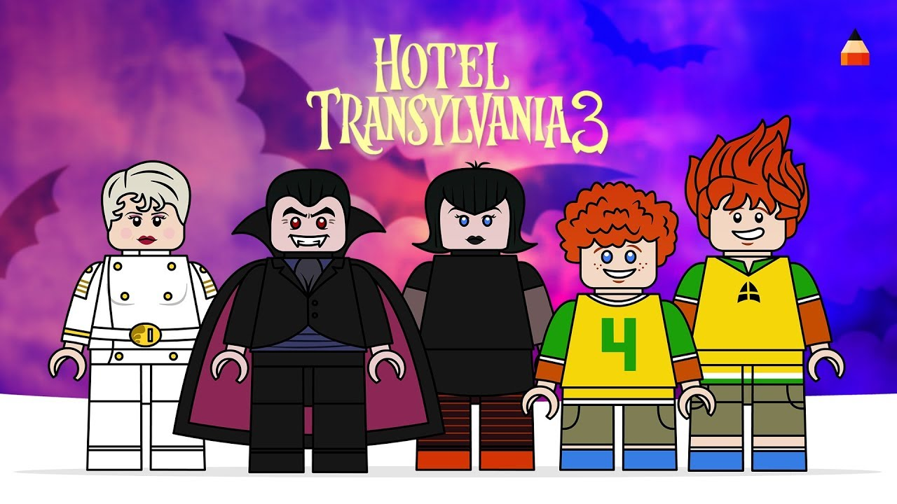 LEGO Hotel Transylvania 3 Minifigures Watch How To Draw Summer Vacation