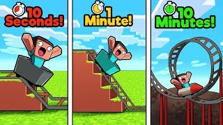 Minecraft - ROLLER COASTER CHALLENGE! (10 Sec vs 1 Min vs 10 Min)