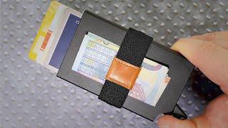Smarter Mechanismus & RFID Schutz für 15€! Slim Wallet von Worthern im TEST! // DEUTSCH