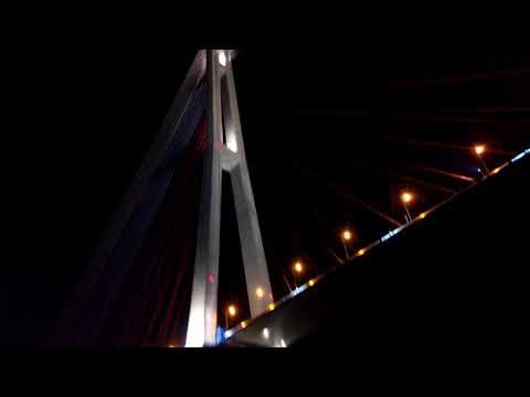 Владивосток - Ночью под мостом  идём на кальмара, Огромный мост с купюры 2000 рублей