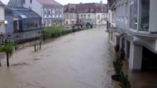 preview picture of video 'Weiz - Lederergasse Überschwemmung'