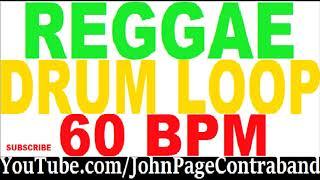 Reggae Drum Jam Loop for Guitar and Bass 60 bpm Rock