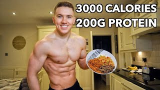 Full Day of Eating 3000 Calories   How I Build Muscle & Keep My Abs...