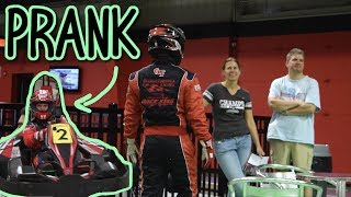 Race Car Driver PRANKS Go Kart Track!!!