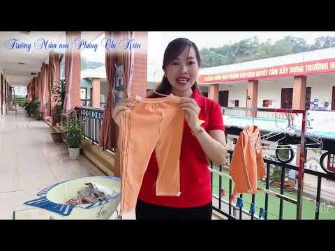Hướng dẫn trẻ phơi quần, áo và đồ dùng cá nhân