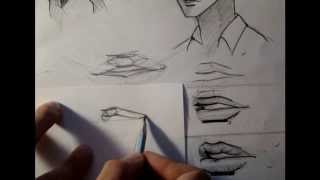 Смотреть онлайн Как научиться рисовать губы аниме карандашом