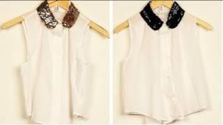 DIY: How to Make a Sequin-Collar Top!