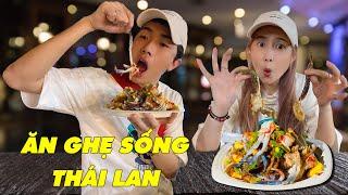 ĂN GHẸ SỐNG THÁI LAN cùng CrisDevilGamer và Mai Quỳnh Anh | Tối nay ăn gì?