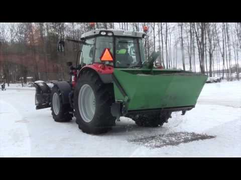 Kellfri Sandstrahler Streuer Selbstladung Salz Winterdienst Sand Heckstreuer / Gritter / Spreader / Sawdust / Sand 2,1M / 1250L