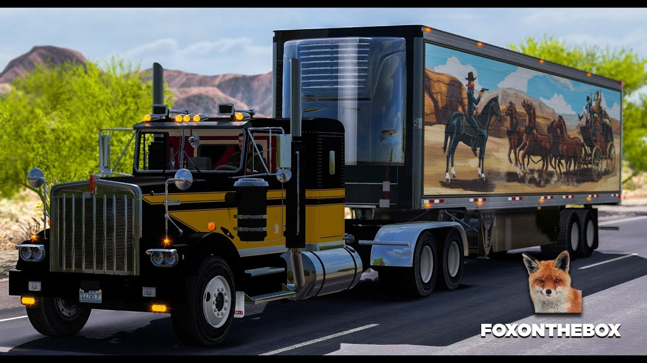 kenworth w900a truck and uncle d reefer trailer with smokey and the bandit skin mod for american. Black Bedroom Furniture Sets. Home Design Ideas
