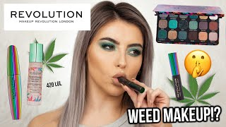 W33D MAKEUP!? TESTING MAKEUP REVOLUTION SATIVA COLLECTION! FIRST IMPRESSIONS + MACRO CLOSE UPS!