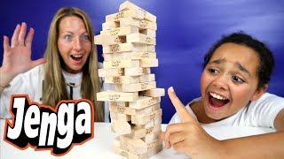 Crazy Jenga Challenge! Kids Toy Prizes | Family Fun Video