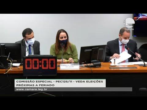 PEC 125/11 - Veda eleições próximas a feriados - Plano, requerimentos e eleição - 12/05/21