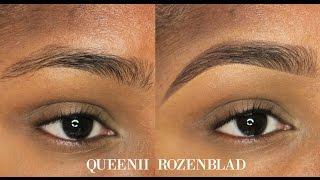 """Natural"" Eye Brow tutorial using Pencil - Queenii Rozenblad"