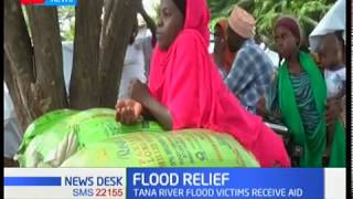 Tana River flood victims  receive food donation from the county government