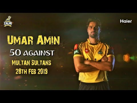 Match winning knock by Umar Amin Against Multan Sultans | 54 * off 37 balls
