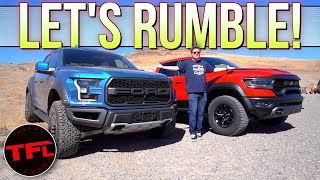 Ford Raptor vs. Ram TRX: Does Ram's Supertruck DEVOUR The Competition or Is It Too Little Too Late? by The Fast Lane Truck