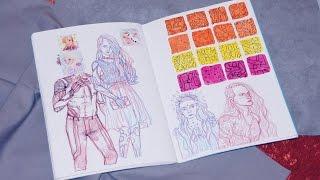 Обзор Скетчбука / Sketchbook June - July 2016