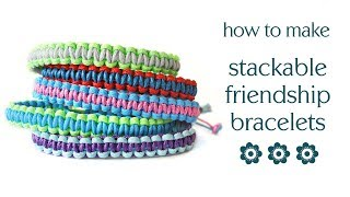 Easy Friendship Bracelet DIY Tutorial - Square Knot Macrame