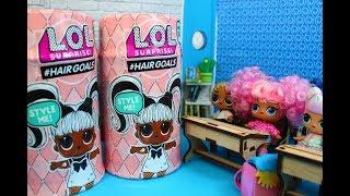 Куклы лол в панике. Новенькие в школе.Распаковка #Hairgoals Мультик про куклы LOL SURPRISE MC Family