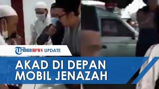 Viral Video Sepasang Pengantin di Magetan Lakukan Akad Nikah di Depan Mobil Jenazah, Ini Alasannya