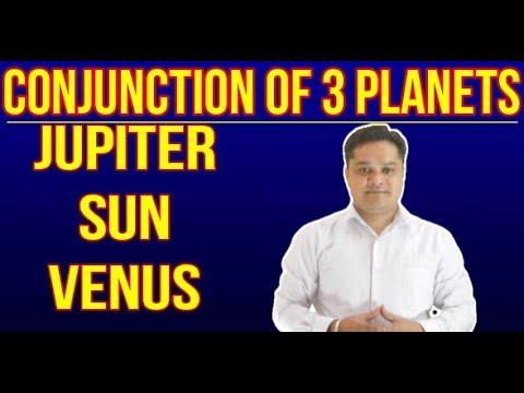 CONJUNCTION OF THREE PLANETS#JUPITER#SUN#VENUS - Thủ thuật