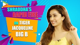 LOL- Which CUSS word Shraddha uses a lot? | Tiger is very ZEN | Rapid Fire | Baaghi 3