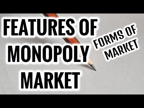 Features of MONOPOLY Competition- Forms of Market- Microeconomics