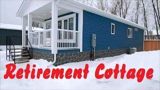 New 16 X 44  Retirement Cottage Mobile Home Tour. 2 Bedroom 1 Bath (705 Sq,ft). Winnipeg Canada