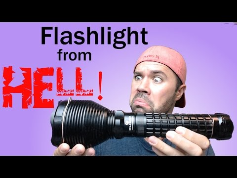 The Brightest Flashlight!  Olight SR90 Intimidator Review