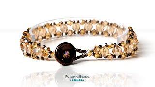 Diagonal Stitch Bracelet- DIY Jewelry Making Tutorial By PotomacBeads