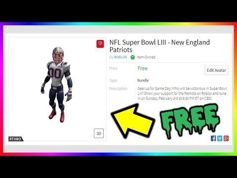 HOW TO GET FREE ROBLOX NFL SUPERBOWL LIII AVATARS (FOOTBALL