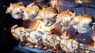 참나무 숯불통닭,한방통닭,장작구이 - 대학로 / Oak Tree Charcoal Grilled Chicken / korean street food