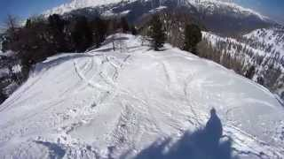 preview picture of video 'Freeride and freestyle in Italy- Val di Sole 2014. Sony Action Cam'