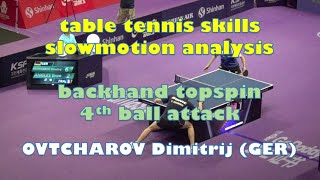 backhand topspin 4th ball attack table tennis skills slowmotion analysis